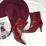 Nine West Shoes | Nine West Red Patent Mid Calf Boots Nanteo | Color: Red | Size: 8