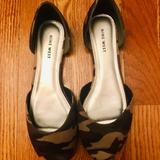 Nine West Shoes | New Camo Peep Toe Flats | Color: Green | Size: 8