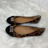 Coach Shoes | Coach Womens Sz 6 B Flat Ballet Shoes Animal Print | Color: Black/Brown | Size: 6