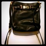 Michael Kors Bags | Michael Kors Black Purse With Gold Chains, Strap | Color: Black/Gold | Size: Os