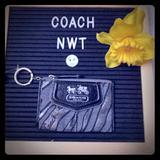 Coach Bags   Nwt Coach Mini Skinny Silver And Black Zebra Print   Color: Black   Size: 4 12 Inches X 3 Inches