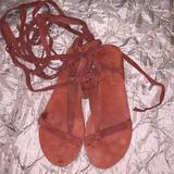 Free People Shoes   Free People Sz 39 Lace Up Sandal   Color: Red   Size: 8