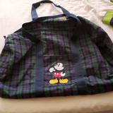 Disney Bags   Mickey Duffle   Color: Blue/Green   Size: Os