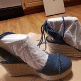 Michael Kors Shoes   Michael Kors Closed Toe Wedge Denim   Color: Blue   Size: 8