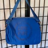 Pink Victoria's Secret Bags | Blue Victoria Secret Love Pink Laptop Case | Color: Blue | Size: 15-17 Inch Laptop
