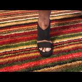 Ralph Lauren Shoes   Ralph Lauren Canvas Wedge Espadrille Sandals, Sz 7   Color: Black   Size: 7.5