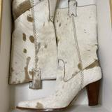 Michael Kors Shoes | Michael Khors Real Cowboy Boots (Real Horse Hair) | Color: Brown/White | Size: 6