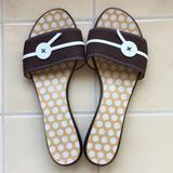 Kate Spade Shoes   Kate Spade Brown Slides With Button   Color: Brown/Cream   Size: 8
