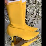 Zara Shoes   Brand New Zara Boot Kitten Heel In Yellow   Color: Yellow   Size: Zara 38 = 7 12