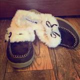 American Eagle Outfitters Shoes | Brown Moccasins | Color: Brown/White | Size: 10
