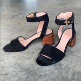 J. Crew Shoes | Jcrew Suede Sandals, Sz 5-12 | Color: Black | Size: 5.5