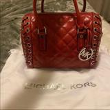 Michael Kors Bags | Michael Kors Red Leather Crossbody Bag | Color: Red | Size: Os