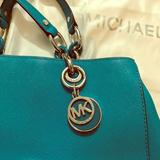 Michael Kors Bags | Michael Kors Teal Cynthia Chain Satchel Purse | Color: Blue/Green | Size: Os