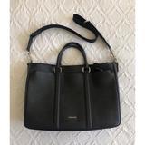 Coach Bags | Coach - Euc, Mens Grainy Leather Briefcase | Color: Black/Silver | Size: 17 X 4.75 X 12.5