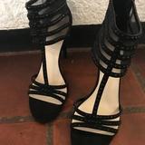 Nine West Shoes | Nine West Black Rhinestone Stiletto Heels | Color: Black | Size: 9