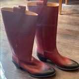 Gucci Shoes | Gucci Cowboy Boots 6 12 | Color: Red | Size: 6.5