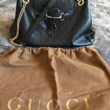 Gucci Bags | Gucci Emily Large Black Leather Bag With Duster | Color: Black | Size: Os