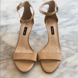 Nine West Shoes | Nine West Leisa Ankle Strap Heel - Nude | Color: Cream | Size: 8.5