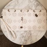 Jessica Simpson Bags   Nwot Jessica Simpson White Vegan Leather Clutch   Color: White/Yellow   Size: Os