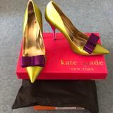 Kate Spade Shoes   Kate Spade Satin Pumps   Color: Green/Purple   Size: 7.5