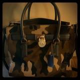 Michael Kors Bags | Michael Kors Large Hamilton Large Traveler Tote | Color: Brown/Green | Size: Os
