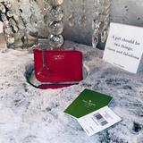 Kate Spade Bags | Kate Spade Card Holder Wallet | Color: Gold/Red | Size: 5(L) 3.5(H) 12(W)