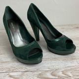 Nine West Shoes | Nine West Dark Emerald Suedeleather Pumps Sz 7.5 | Color: Green | Size: 7.5