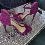 Jessica Simpson Shoes | Js-Rayanna T Strap Suede Sandals | Color: Purple | Size: 11