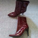 Nine West Shoes   Nine West Sz 8 Pointed Toe Calf Boots Zip Close   Color: Red   Size: 7.5