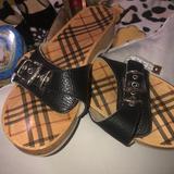 Burberry Shoes | Burberry Dr. Scholls Slides | Color: Black | Size: 8