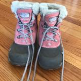 The North Face Shoes | North Face Girls Snow Boots | Color: Gray/Pink | Size: 4bb