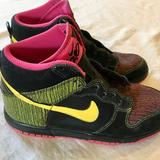 Nike Shoes | Nike Dunk High 6.0 Multi Colored Sneakers | Color: Black/Pink | Size: 6.5