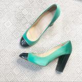 J. Crew Shoes | J. Crew Emerald Green Satin Patent Etta Pump | Color: Black/Green | Size: 9.5