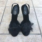 Kate Spade Shoes   Kate Spade Black Feathers Closed Toe Slingback   Color: Black   Size: 5