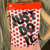 Nike Bags | Nike Jdi Heritage Sports Bag Gymsack Whitered | Color: Black/Red | Size: 17 X 13