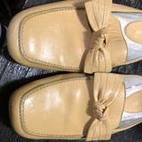 Nine West Shoes   Nine West - Flat Leather Mules With Bow. Size 6.   Color: Yellow   Size: 6