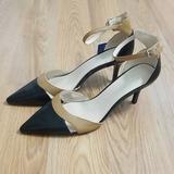 Nine West Shoes   Nine West Pointed Toe Leather High Heel Shoes   Color: Black/Tan   Size: 6.5