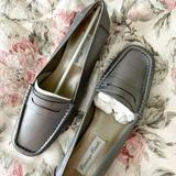 J. Crew Shoes   Nib Leather Loafers (Size 9)   Color: Gray/Silver   Size: 9