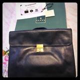 Gucci Bags | Gucci Briefcase Blk W Key Lock Boxcertificate | Color: Black | Size: Large