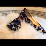 Coach Shoes   Coach Ballet Flat Animal Print Shoe Size 7   Color: Black/Tan   Size: 7