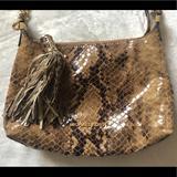Michael Kors Bags | Michael Kors Snake Print Shoulder Bag | Color: Brown/Tan | Size: Os