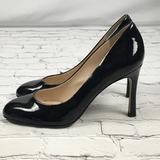 Nine West Shoes | Nine West Black Patent Pu Leather Pumps Sz 8 | Color: Black | Size: 8