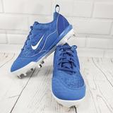 Nike Shoes   Nike Lunar Hyperdimond 2 Pro Womens Softball Cleat   Color: Blue/White   Size: 8