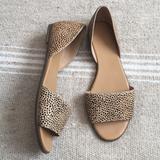 J. Crew Shoes | J. Crew Morgan Calf Hair Peep Toe Slip On Flats 9 | Color: Black/Cream | Size: 9