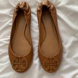 Tory Burch Shoes | New Tory Burch Reva Leather Ballet Flats Royal Tan | Color: Red/Tan | Size: 6.5