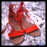 Madewell Shoes   Madewell Lace Up Sandals   Color: Red   Size: 9