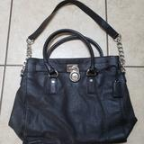 Michael Kors Bags | Michael Kors 2 Way Bag Black Leather Shoulder Bag | Color: Black | Size: Os