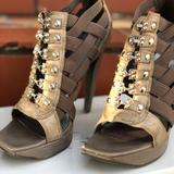 Jessica Simpson Shoes   Jessica Simpson Strappy Caged Gladitor Heels   Color: Brown/Gray   Size: 7