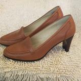 Nine West Shoes | Nine West Stacked Heel.Pump | Color: Tan | Size: 7