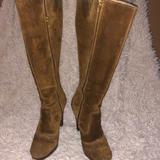 Michael Kors Shoes | Michael Kors Camel Suede Knee High Boots Sz 6m | Color: Brown | Size: 6